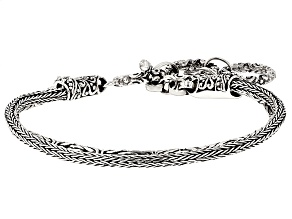 Pre-Owned Sterling Silver Double Strand Bracelet