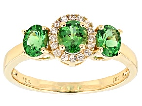 Pre-Owned Green Tsavorite 10k Yellow Gold Ring .93ctw