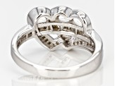 Pre-Owned White Diamond Rhodium over Sterling Silver Ring .40ctw