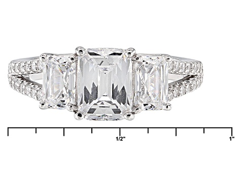 Pre-Owned White Cubic Zirconia Platineve Ring 4.95ctw