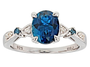 Pre-Owned London Blue Topaz Rhodium Over Sterling Silver Ring 2.18ctw