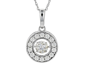 Pre-Owned Moissanite Platineve Pendant 1.02ctw DEW.