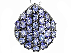 Pre-Owned Blue Tanzanite Sterling Silver Pendant With Chain 3.99ctw