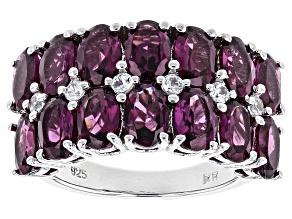 Pre-Owned Purple Rhodolite Sterling Silver Ring 7.68ctw