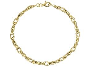 Pre-Owned 10k Yellow Gold Polished Designer Rope Bracelet