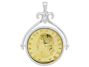 Pre-Owned 20 Lira Coin Sterling Silver Pendant