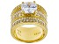 Pre-Owned White Cubic Zirconia 18k Yellow Gold Over Sterling Silver Ring 6.93ctw