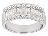 Pre-Owned Moissanite Fire™ 1.60ct Diamond Equivalent Weight Baguette & Round Platineve™ Band