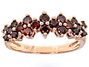 Pre-Owned Red Diamond 10k Rose Gold Ring 0.90ctw