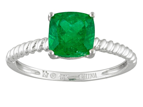 Pre-Owned Green Apatite 10k White Gold Ring 1.60ct