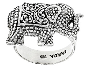 Pre-Owned Sterling Silver Elephant Ring