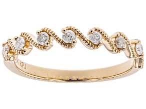 Pre-Owned White Diamond 10k Rose Gold Ring .20ctw