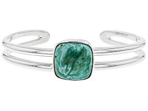 Pre-Owned Turquoise Green Kingman Silver Bracelet