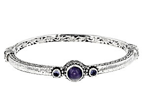 Pre-Owned Blue Tanzanite Silver Bracelet 0.34ctw