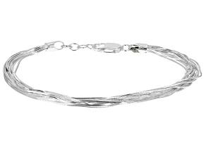 Pre-Owned Sterling Silver Snake Link Bracelet 7.25 inch