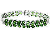 Pre-Owned Green Chrome Diopside Sterling Silver Bracelet 23.04ctw