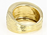 Pre-Owned 18k Yellow Gold Over Bronze Satin Finish Cigar Band Ring