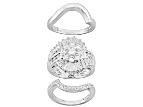 Pre-Owned Bella Luce 3.71ctw Brilliant Cut Cz .925 Sterling Silver Ring With Wrap