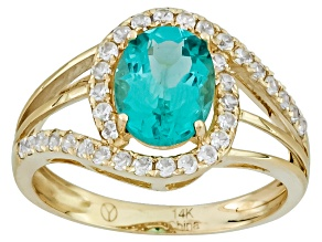 Pre-Owned Blue Apatite 14k Yellow Gold Ring 1.94ctw