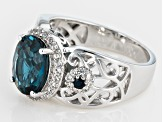 Pre-Owned London Blue Topaz Sterling Silver Ring 3.19ctw