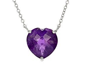 Pre-Owned Purple African Amethyst Sterling Silver Necklace 4.25ctw