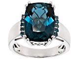 Pre-Owned London Blue Topaz Sterling Silver Ring 7.09ctw