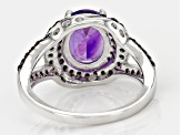 Pre-Owned Purple African Amethyst Sterling Silver Ring 2.35ctw