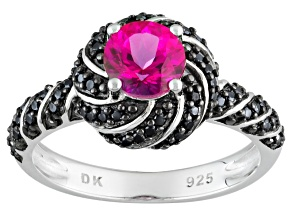 Pre-Owned Pink Danburite Sterling Silver Ring .86ctw