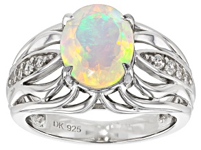 Pre-Owned Ethiopian Opal Sterling Silver Ring 1.70ctw