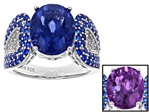 Pre-Owned Blue Fluorite Sterling Silver Ring 5.70ctw