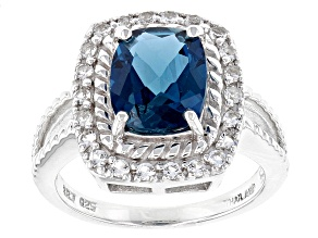 Pre-Owned London Blue Topaz Sterling Silver Ring 3.00ctw