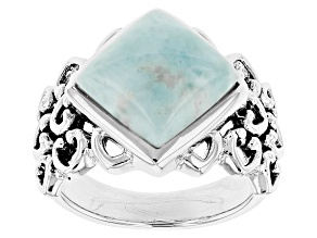 Pre-Owned Blue Larimar Sterling Silver Ring
