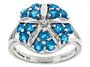 Pre-Owned Neon Blue Apatite Sterling Silver Ring .95ctw