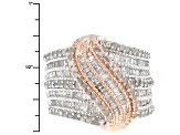 Pre-Owned Diamond Silver Ring 1.77ctw