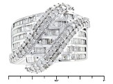 Pre-Owned Diamond Rhodium Over Sterling Silver Ring 1.50ctw