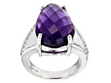 Pre-Owned Purple Amethyst Sterling Silver Ring 8.22ctw