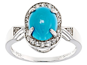 Pre-Owned Blue Sleeping Beauty Turquoise Sterling Silver Ring .32ctw