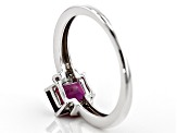 Pre-Owned Grape Color Garnet 10K white gold Ring 1.23ctw