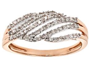 Pre-Owned White Diamond 14k Rose Gold Ring .20ctw