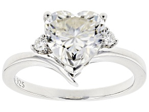 Pre-Owned Moissanite Platineve Ring 2.26ctw D.E.W