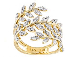 Pre-Owned Diamond 14k Yellow Gold Ring .53ctw