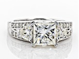 Pre-Owned Moissanite Platineve ring 3.14ctw DEW