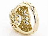 Pre-Owned Moissanite 14k Yellow Gold Over Sterling Silver Ring 2.60ctw DEW