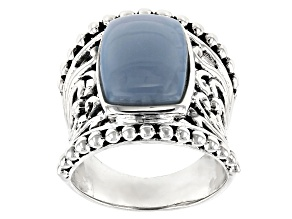Pre-Owned Blue opal sterling silver ring