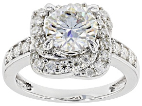 Pre-Owned Moissanite Platineve Ring 2.68ctw DEW