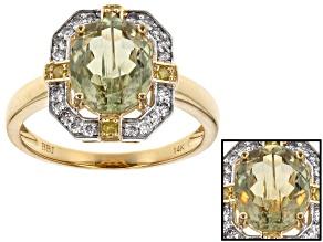Pre-Owned Green Turkish Diaspore 14k Yellow Gold Ring 2.47ctw