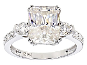 Pre-Owned Moissanite Platineve ring 4.34ctw DEW