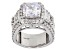 Pre-Owned White Cubic Zirconia Rhodium Over Sterling Silver Ring 10.96ctw
