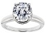 Pre-Owned White Cubic Zirconia Rhodium Over Sterling Silver Solitaire Ring 4.97ctw