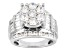 Pre-Owned Cubic Zirconia Rhodium Over Sterling Silver Ring 7.14ctw